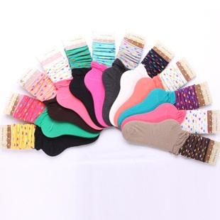 S302**พร้อมส่ง** (ปลีก+ส่ง) ถุงเท้าแฟชั่นเกาหลี ข้อยาว ลายหัวใจ คละ 5 สี เนื้อดี งานนำเข้า(Made in China)