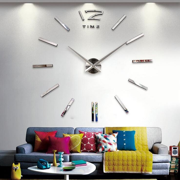 นาฬิกาDIY ขนาดจัมโบ้90cm สีเงิน big1B