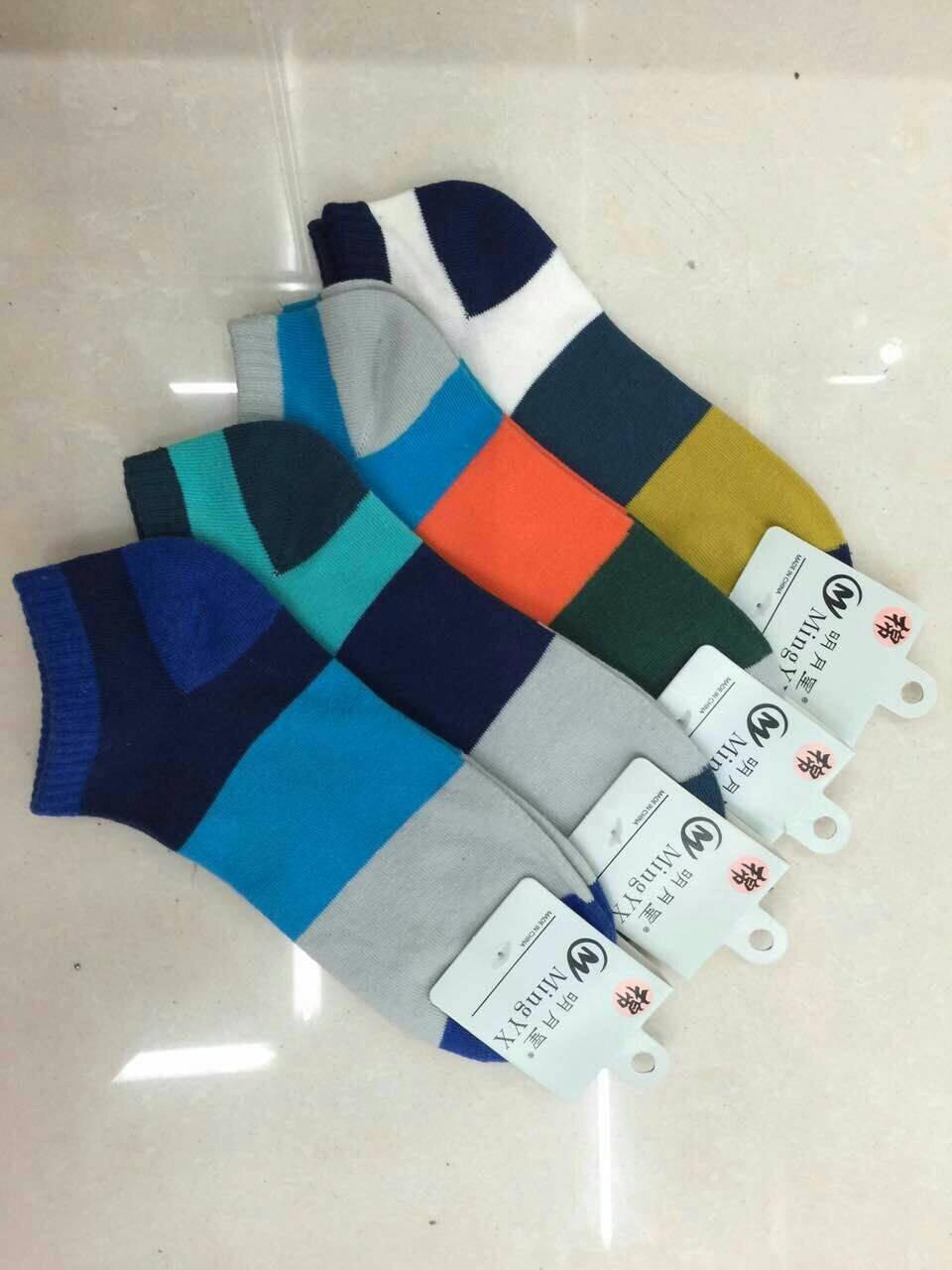 S569 **พร้อมส่ง** (ปลีก+ส่ง) ถุงเท้าแฟชั่น ข้อตาตุ่ม คละ 5 สี เนื้อดี งานนำเข้า มี 10 คู่ต่อแพ็ค