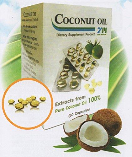 Zigma Coconut Oil ซิกม่า โคโค่นัท ออยด์ น้ำมันมะพร้าว ชนิดเม็ด