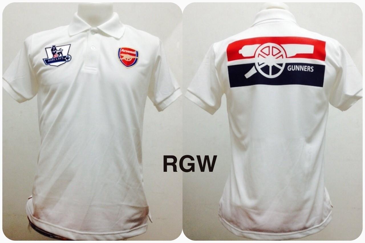 เสื้อโปโล อาร์เซนอล สีขาว RGW