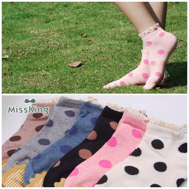 S291**พร้อมส่ง** (ปลีก+ส่ง) ถุงเท้าแฟชั่นเกาหลี ข้อสั้น ขอบงานถัก เนื้อดี งานนำเข้า(Made in china)