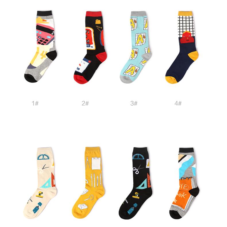 S432**พร้อมส่ง** (ปลีก+ส่ง) ถุงเท้าแฟชั่นเกาหลี ข้อยาว คละลายคละสี มี 12 คู่ต่อแพ็ค เนื้อดี งานนำเข้า