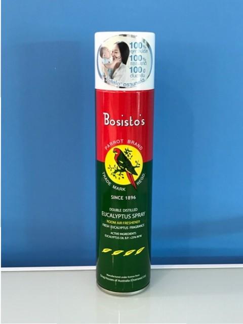 Bosisto's Eucalyptus Spray 300 mL โบสิสโต นกแก้ว สเปรย์ปรับอากาศยูคาลิปตัส สเปรย์สารพัดประโยชน์จากธรรมชาติ มีกลิ่นหอม