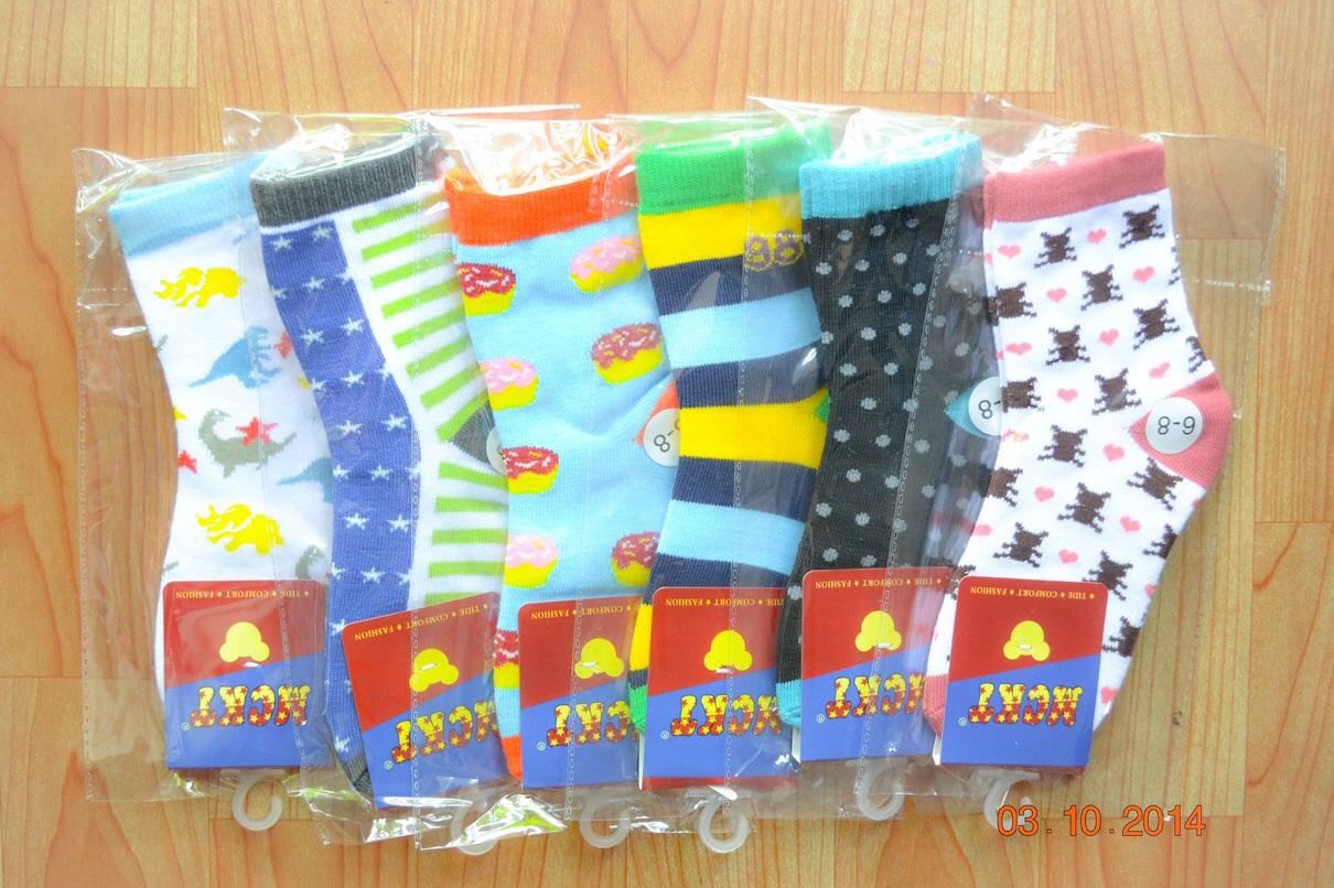 U039-3 **พร้อมส่ง** (ปลีก+ส่ง) ถุงเท้าเด็กโต ไม่มีกันลื่น วัย 6-8 ปี ข้อยาว เนื้อดี งานนำเข้า ( Made in China)