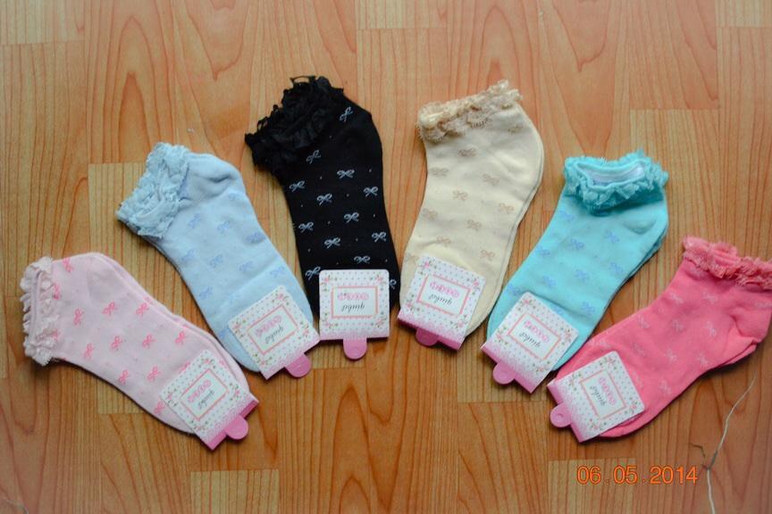 S187**พร้อมส่ง** (ปลีก+ส่ง) ถุงเท้าแฟชั่นเกาหลี ข้อสั้น ขอบลูกไม้ เนื้อดี งานนำเข้า(Made in china)