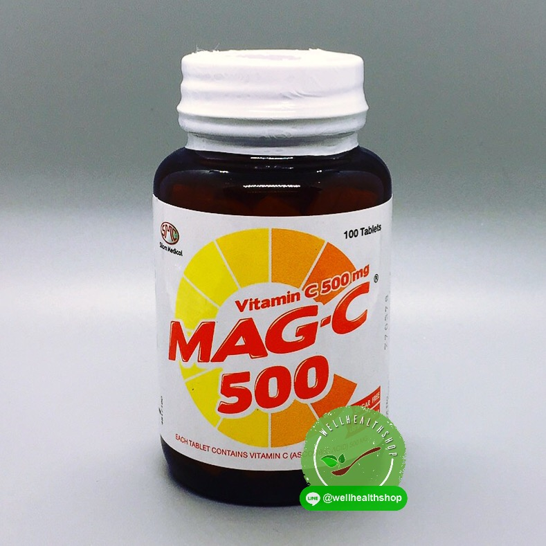 Mag-C 500 แม็ก-ซี 500 Vitamin C 500mg ขนาด 100 เม็ด