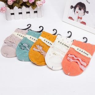 S341 **พร้อมส่ง** (ปลีก+ส่ง) ถุงเท้าแฟชั่นเกาหลี ข้อยาว คละ 5 สี มี 10 คู่/แพ็ค เนื้อดี งานนำเข้า(Made in China)