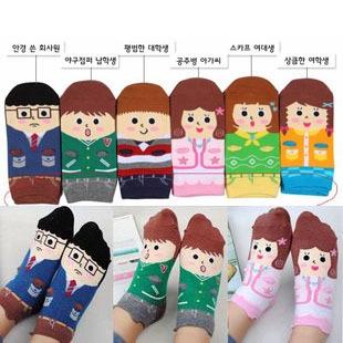 A026 **พร้อมส่ง**(ปลีก+ส่ง) ถุงเท้าแฟชั่นเกาหลี ลายมือ 3 มิติ มี 6 แบบ เนื้อดี งานนำเข้า( Made in Korea)