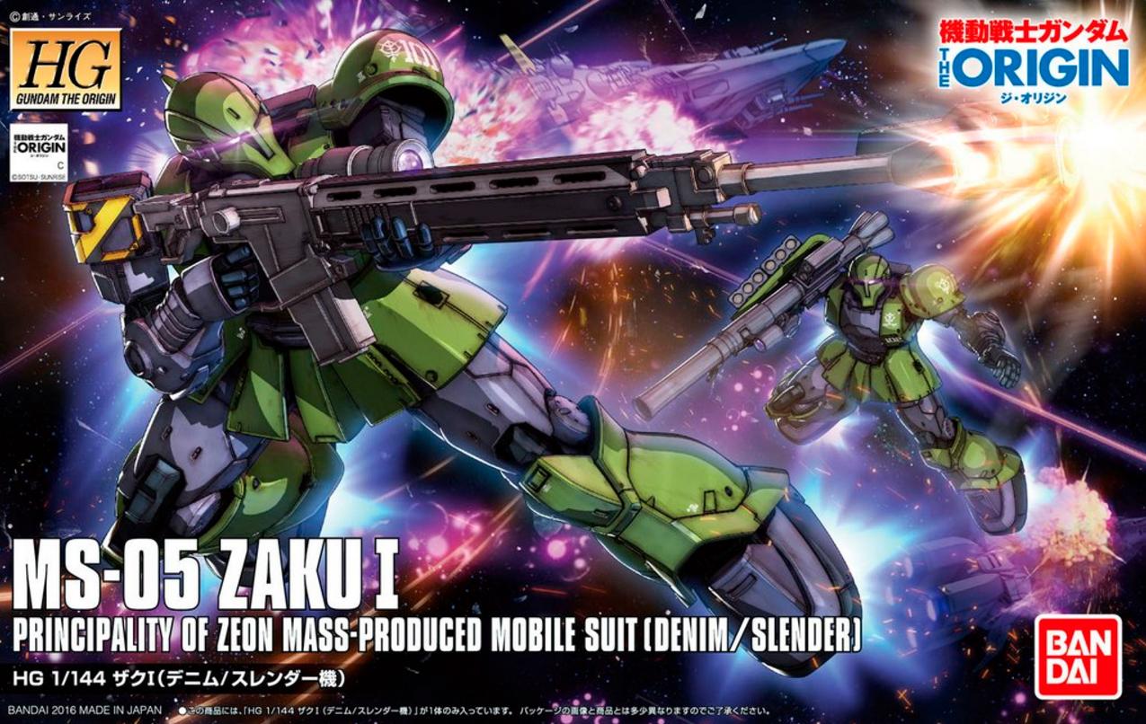 HGUC 1/144 MS-05 Zaku I THE ORIGIN [Denim / Slender Unit]