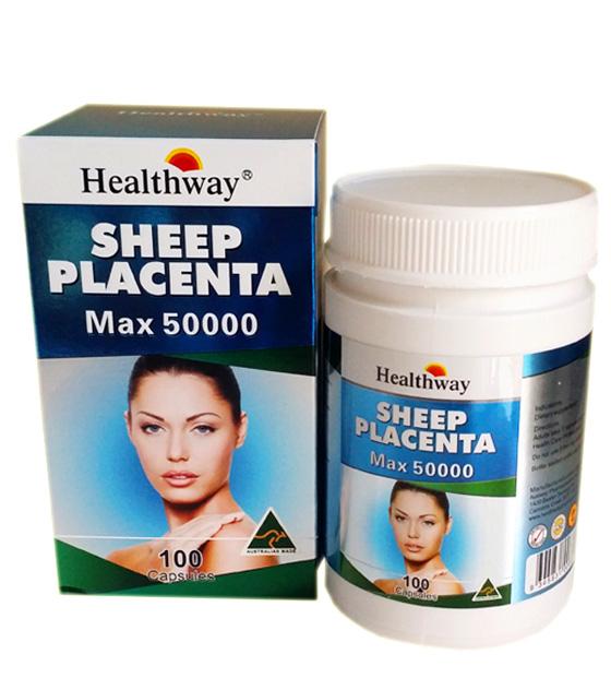 Healthway Sheep Placenta max 50000 เฮลธ์เวย์ ชีป พลาเซนต้า แม็กซ์ 50000(รกแกะ เฮลธ์เวย์)