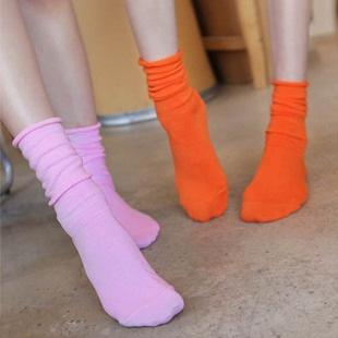 A046**พร้อมส่ง** (ปลีก+ส่ง)ถุงเท้าแฟชั่นเกาหลี ข้อยาว มี 10 สี เนื้อดี งานนำเข้า(Made in Korea)