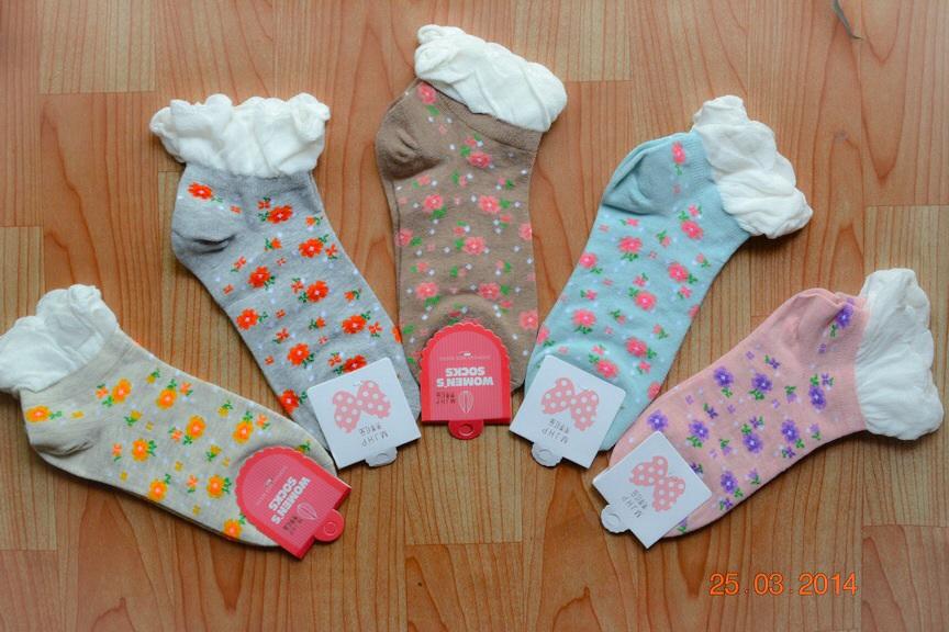 S168 **พร้อมส่ง** (ปลีก+ส่ง) ถุงเท้าแฟชั่นเกาหลี ข้อสั้น เนื้อดี งานนำเข้า(Made in China)