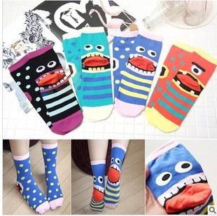 A042**พร้อมส่ง**(ปลีก+ส่ง) ถุงเท้าแฟชั่นเกาหลี ข้อสูง มี 4 แบบ เนื้อดี งานนำเข้า( Made in Korea)