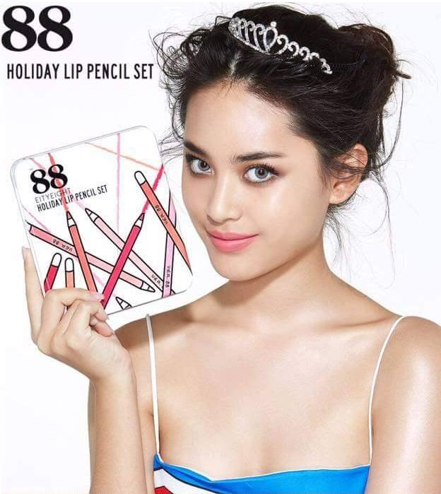 Ver 88 Holiday Lip Pencil Set เวอร์.88 ฮอลิเดย์ ลิป เพนซิล เซต ลิปสีไม้