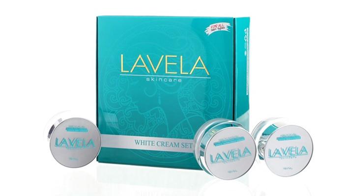 Lavela white cream set ลาวีล่า ไวท์ ครีม เซ็ต ผิวหน้าเปล่งปลั่ง ขาวสว่างใส ส่งฟรีEMS