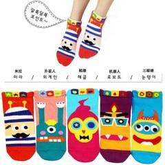 S045**พร้อมส่ง** (ปลีก+ส่ง) ถุงเท้าแฟชั่นเกาหลี ข้อสั้น มี 5 แบบ เนื้อดี งานนำเข้า(Made in china)
