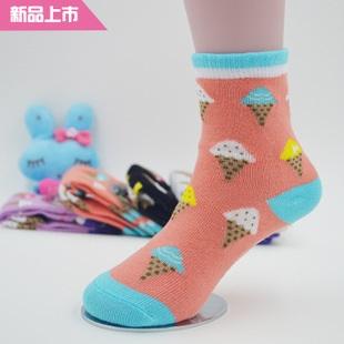 U037-16**พร้อมส่ง** (ปลีก+ส่ง) ถุงเท้า Q House แฟชั่นเด็กโต(3-6 ปี) มีกันลื่น เนื้อดี งานนำเข้า ( Made in China)