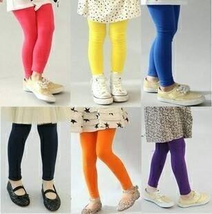 X010 **พร้อมส่ง** (ขายส่ง) กางเกง เลคกิ้ง นาโน เด็ก แพ็ค 12 ตัว คละ 3 ไซด์ มี 9 สี ( Made in China)