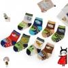 U037-10**พร้อมส่ง** (ปลีก+ส่ง) ถุงเท้าเด็ก Q House (0-1 ปี) มีกันลื่น เนื้อดี งานนำเข้า ( Made in China)