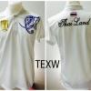 เสื้อโปโล ทีมชาติไทย ลายธงไตรรงค์ สีขาว TEXW