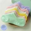 P003**พร้อมส่ง** (ปลีก+ส่ง) ถุงเท้าซ่อน ข้อเว้า มีรูระบายอากาศ ไซส์หญิง คละสี มีซิลิโคนกันหลุด 12 คู่ต่อแพ็ค เนื้อดี งานนำเข้า(Made in China)
