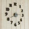 นาฬิกาติดผนัง DIY สีดำ