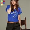 เสื้อยืดแฟชั่น แขนเบิ้ล ลาย New Music Note สีน้ำเงิน