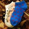 S214**พร้อมส่ง** (ปลีก+ส่ง) ถุงเท้าแฟชั่นเกาหลี ข้อสั้น ลายกะโหลก เนื้อดี งานนำเข้า(Made in China)