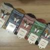 S475**พร้อมส่ง** (ปลีก+ส่ง) ถุงเท้าข้อยาว แฟชั่นเกาหลี คละ 5 สี จำนวน 10 คู่ต่อแพ็ค เนื้อดี งานนำเข้า(Made in China)