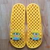K011-DYL **พร้อมส่ง** (ปลีก+ส่ง) รองเท้านวดสปา เพื่อสุขภาพ ปุ่มเล็ก ลายมินเนี่ยน สีเหลือง