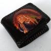 กระเป๋าสตางค์สีดำ ลายอินเดียแดง 2 พับ