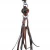 เชือกหนังถักเป็นพวงกุญแจที่ทำจากหนังแท้ 100% ความยาว 30 เซนติเมตร