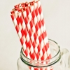 Paper Straws in Red & White Stripes