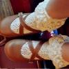 ถุงเท้าลูกไม้สไตล์เจ้าหญิง สีขาว