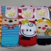 U004**พร้อมส่ง** (ปลีก+ส่ง) ถุงเท้า แฟชั่นเด็กโต (9-12 ปี) ลายการ์ตูนจมูกนูน สามมิติ ไม่มีกันลื่น เนื้อดี งานนำเข้า แพ็ค 10 คู่ ( Made in China)