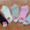 S364**พร้อมส่ง** (ปลีก+ส่ง) ถุงเท้าแฟชั่นเกาหลี ข้อสั้น แต่งขอบย่น เนื้อดี งานนำเข้า(Made in china)