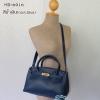 พร้อมส่ง HB-6016 สีน้ำเงิน กระเป๋าแฟชั่นBirkin design พร้อมใบเล็ก ซับในหนังกลับอย่างดี