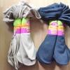 S592 **พร้อมส่ง** (ปลีก+ส่ง) ถุงเท้า เพื่อสุขภาพ ผลิตจากเส้นใยไม้ไผ่ ข้อยาว เนื้อถุงน่อง มีลายที่ขอบ มี 2 สี ,10 คู่ต่อแพ็ค เนื้อดี งานนำเข้า(Made in China)