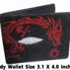 กระเป๋าสตางค์ปลากระเบน ลายมังกรแดงผยอง Line id : 0853457150