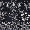 ผ้าถุงขาวดำ ec9819bk