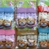 U024-3**พร้อมส่ง**(ปลีก+ส่ง) ถุงเท้าเด็กวัย 1-3 ขวบ ติดหัวสัตว์ พับข้อ มีเสียงกุ๊งกิ๊ง และมีกันลื่น เนื้อดี งานนำเข้า (Made in China)