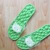 K020-ฺGR**พร้อมส่ง** (ปลีก+ส่ง) รองเท้านวดสปา เพื่อสุขภาพ ปุ่มใหญ่สลับเล็ก (การ์ตูน) สีเขียว ส่งคู่ละ 150 บ.