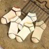 S613**พร้อมส่ง** (ปลีก+ส่ง) ถุงเท้าแฟชั่น เกาหลี ข้อสั้น คละ 5 สี 10 คู่ต่อแพ็ค เนื้อดี งานนำเข้า(Made in China)