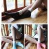 S333**พร้อมส่ง** (ปลีก+ส่ง) ถุงเท้าแฟชั่นเกาหลี พับข้อ คละ 4 สี มี 10 คู่/แพ็ค เนื้อดี งานนำเข้า(Made in China)