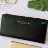 พร้อมส่ง รหัส P7599-25C สีดำ กระเป๋าสตางค์ยาว Forever-young แท้ แต่งโลโก้แบรนด์