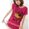 เสื้อยืดแฟชั่น ผ้านุ่ม ลาย Cool Dog (Size M:36 นิ้ว) สีชมพูบานเย็น