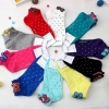 A023**พร้อมส่ง**(ปลีก+ส่ง) ถุงเท้าแฟชั่นเกาหลี โบว์ข้าง ลายจุด ข้อสั้น มี 10 สี เนื้อดี งานนำเข้า( Made in Korea)