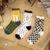 S429 **พร้อมส่ง** (ปลีก+ส่ง) ถุงเท้าแฟชั่นหญิง+ชาย ข้อยาว เนื้อดี งานนำเข้า มี 12 คู่ต่อแพ็ค คละลาย