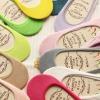 S248**พร้อมส่ง** (ปลีก+ส่ง) ถุงเท้าคัทชู มีซิลิโคนกันหลุดด้านหลัง เป็นถุงเท้าเพื่อสุขภาพ ผลิตจากเส้นใยไผ่ (bamboo fiber) คละสี มี 12 คู่/แพ็ค เนื้อดี งานนำเข้า(Made in China)